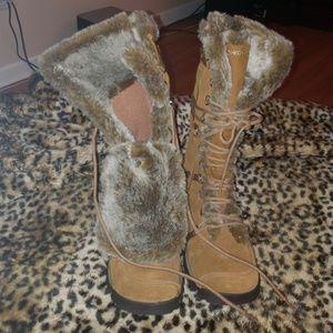 Skechers Originals tan tall winter women's boots s